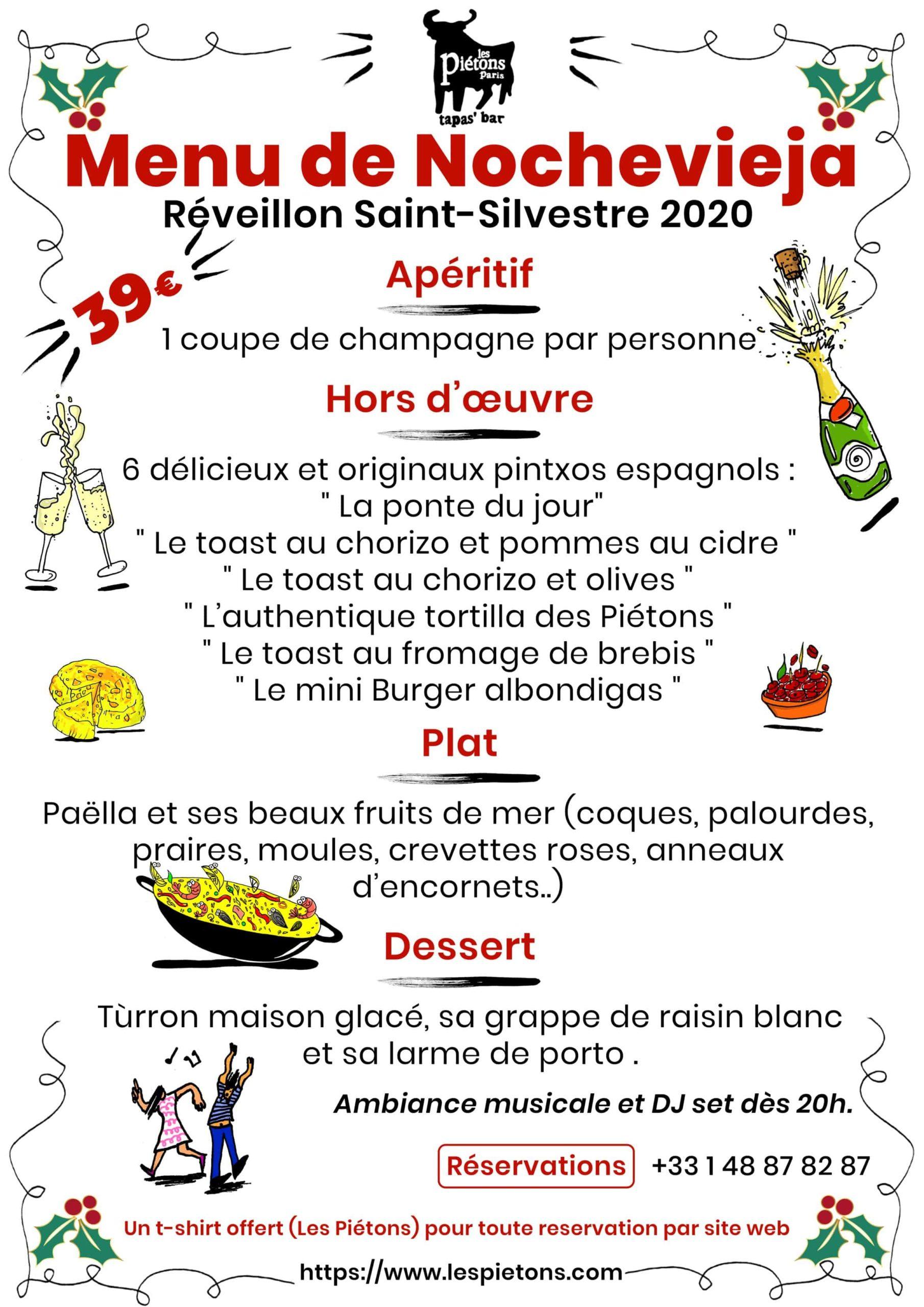 réserver menu saint silvestre espagnol à Paris